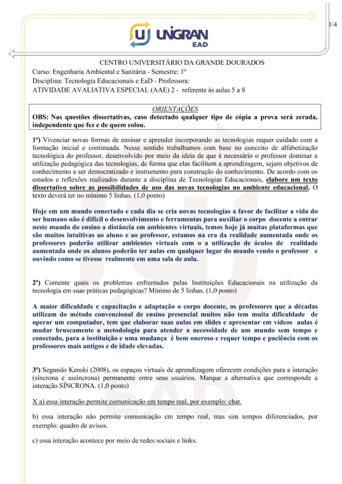 Pre-visualização do material Atividade Avaliativa Especial - Prova 2 - página 1