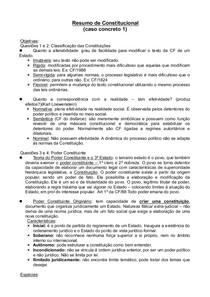 Resumo de Constitucional doc