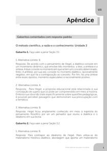 Gabarito unidade 3 filosofia da educação