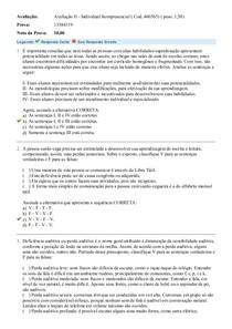 Avaliação II - Individual Semipresencial