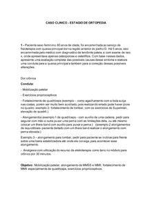 CASO CLINICO- ortopedia