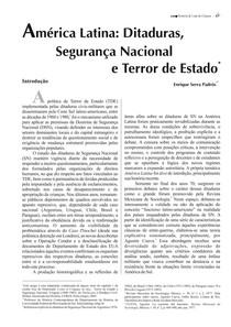 América Latina_ Ditaduras, Segurança Nacional e Terror de Estado Enrique Padrós