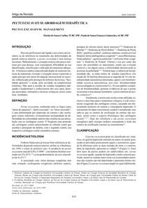 Pectus Excavatum - Formas de Abordagem Terapêutica