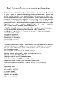 EXERCICIOS GRAMATICA- CLASSES DE PALAVRAS