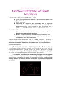 Fatores de Interferência nos Exames Laboratoriais