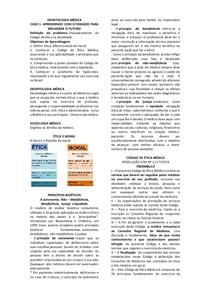 Deontologia Médica - Ética e Moral - Princípios Bioéticos e Código de Ética Médica