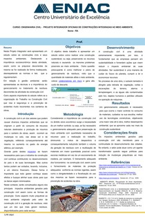 BANNER DE ENGENHARIA PROJETO INTEGRADOR OFICINAS DE CONSTRUÇÕES INTEGRADAS AO MEIO AMBIENTE