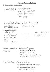 Exercício: Regras de derivação