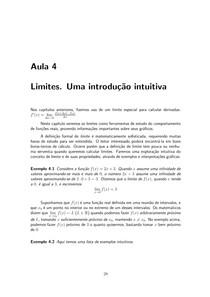 Limite - Introdução Intuitiva