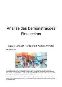 Analise Demonstrações Financeiras - Aula 4