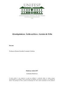 Alcoolquimicos Acido Acetico e Acetato de Etila