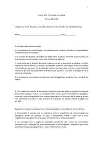 exercicios Direito Civil IV