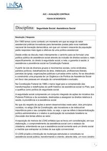 seguridade social assistencia social