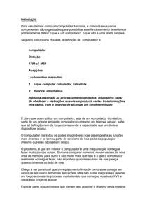 NP1 Organização de Computadores  Introdução   UNIP