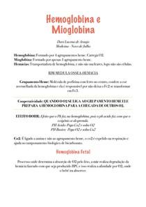 Hemoglobina e Mioglobina