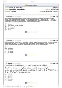 Simulado Lógica Matemática 2015