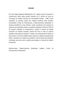 PIM 7 -ITAU UNIBANCO- GESTAO FINANCEIRA