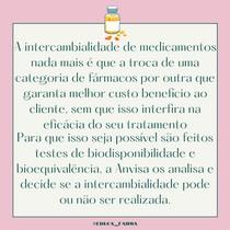 Intercambialidade medicamentosa I