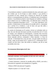 TRATAMENTO FISIOTERÁPICO DA INCONTINÊNCIA URINÁRIA