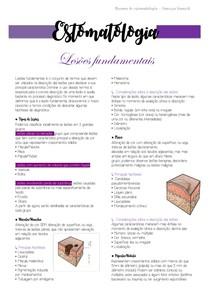 Estomatologia - Lesões fundamentais