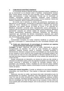 1-Analise ambiental- COMUNIDADE BENTÔNICA MARINHA