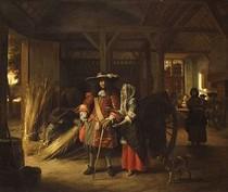 Pieter de Hooch - Paying the Hostess mid