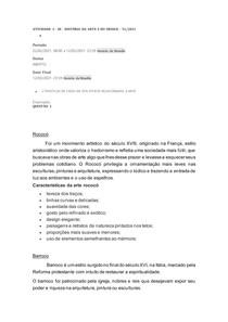 ATIVIDADE 1 - DI - HISTÓRIA DA ARTE E DO DESIGN - 51 2021