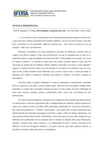 Texto e Hipertexto 2013.1