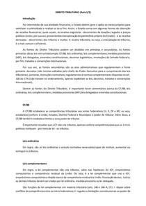 Direito Tributário (Aula 1 de 2)