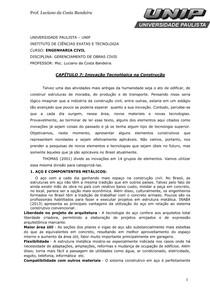 CAPÍTULO 7 Inovação Tecnológica na Construção Civil2