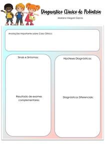 Formulário Diagnostico pediatria ( para resolver seus casos Clinicos)