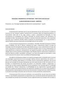 ASSOCIACIONISMO EM HISTÓRIA DA PSICOLOGIA