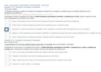 APOL AVALIAÇÃO, EDUCAÇÃO E SOCIEDADE - NOTA 90