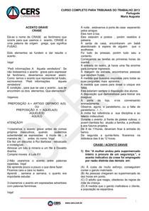 Material de Apoio Português para concursos - Analista do Tribunal - Profª. Maria Augusta CERS