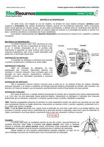 MEDRESUMOS 2016 - BIOFÍSICA 06 - Biofísica da respiração