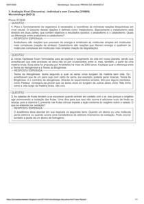 Avaliação Final - Microbiologia - UNIASSELVI