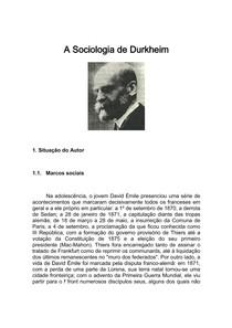 1059296_A Sociologia de Durkheim