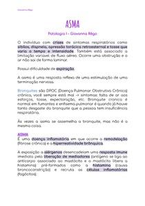 ASMA - Patologia I
