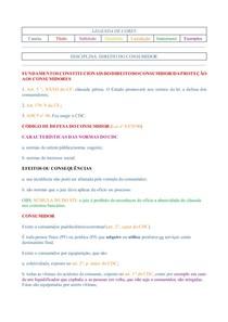 (P&B) Caderno de Direito do Consumidor voltado a estudos do Exame de Ordem