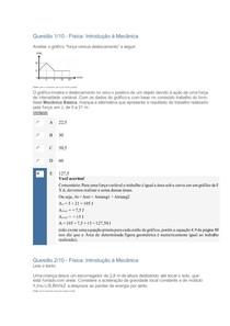 APOL Objetiva 2 Regular - Introdução à Mecânica