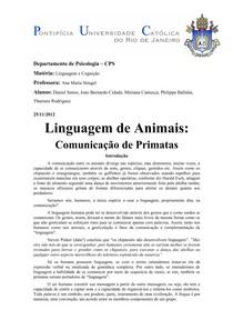 LINGUAGEM ANIMAL - RESUMO (1)