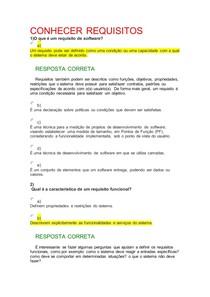 EXERCÍCIOS CONHECER REQUISITOS