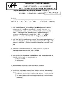 Verificação S. de Química Geral