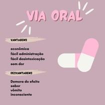Via oral- vantagens e desvantagens