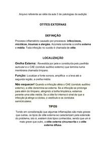 OTITES EXTERNAS RESUMÃO!