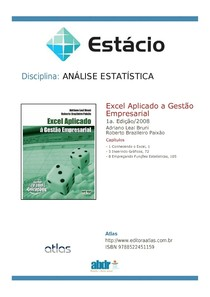 Analise estatística - Excel Aplicado a Gestão Empresarial -  Apostila