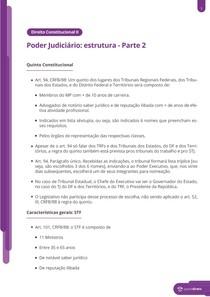 Quinto Constitucional, STF e STJ - Resumo