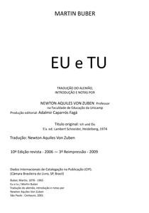Martin Buber - Eu e Tu