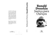 Justiça Para Ouriços - Ronald Dworkin