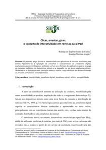 2011   Clicar, arrastar, girar O conceito de interatividade em revistas para iPad